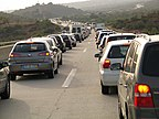 Congestion caused by a road accident, Algarve, Portugal.jpg