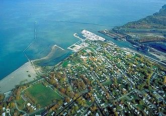 Conneaut, Ohio - Aerial view of the port at Conneaut