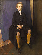 Constant Lambert as a pupil, wearing the traditional uniform