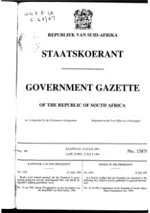 Constitution of the Republic of South Africa Third Amendment Act 1994 from Government Gazette.djvu