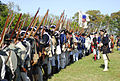 Continental Troops being inspected at Yorkrtown 225th event October 2006.jpg