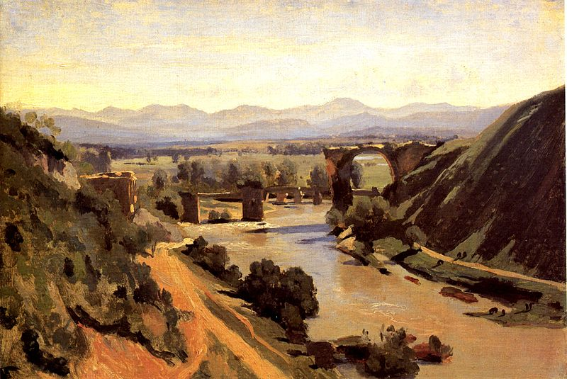 File:Corot The Augustan Bridge at Narni.jpg