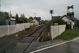 Corpach Station, from the level crossing - geograph.org.uk - 1285899.jpg