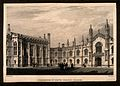 Corpus Christi College, Cambridge; New Court. Line engraving Wellcome V0012323.jpg