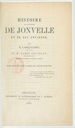 Histoire de Jonvelle et de ses environs