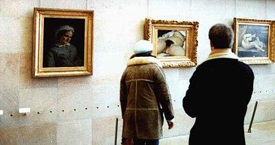 Des visiteurs au musée d'Orsay (Paris)
