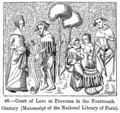 Court of Love in Provence in the Fourteenth Century Manuscript of the National Library of Paris.png