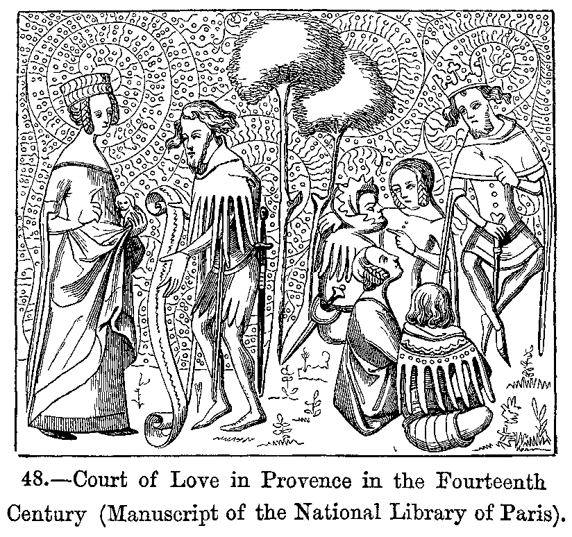 Court of Love in Provence in the Fourteenth Century Manuscript of the National Library of Paris