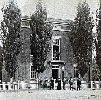 Dayton, Nevada - Dayton, Nevada courthouse built in 1864.