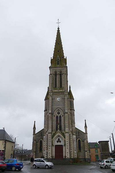 Saint-Peter-and-Saint-Paul's church in Couterne (Orne, Normandie, France).