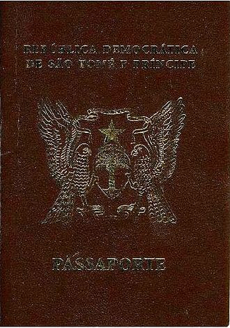 Santomean passport - The front cover of Santomean Passport