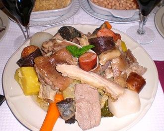 Cozido à portuguesa - Cozido à portuguesa (Portuguese stew) plate