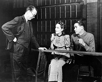 Our Town - Frank Craven, Martha Scott and John Craven in the original Broadway production of Our Town (1938)