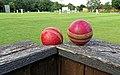Cricket balls at North London Cricket Club Crouch End London 1.jpg