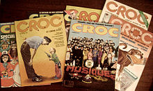 A pile of issues of Croc