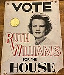 Poster for Ruth Williams Cupp