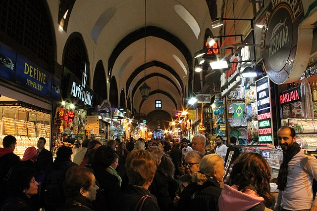 Crowd in Spice Bazaar