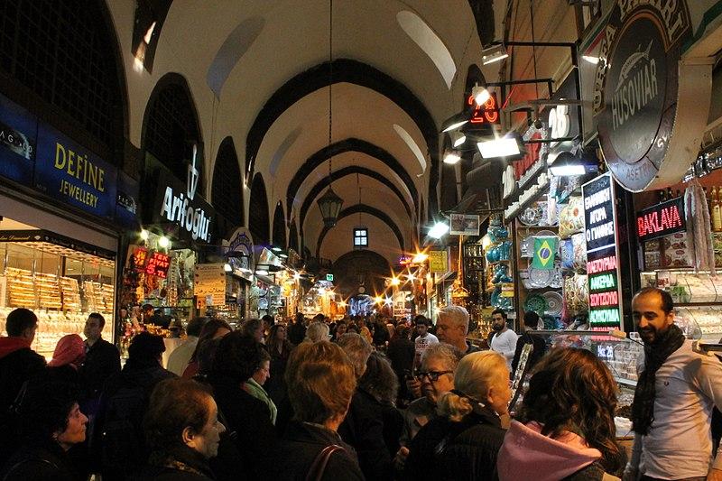 File:Crowd In Spice Bazaar, Istanbul.jpg