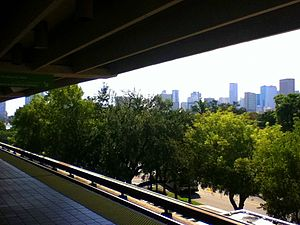 Culmer station - Downtown Miami, as seen from the station's southbound platform