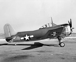 Curtiss SC-1 Seahawk on wheels parked c1945.jpeg