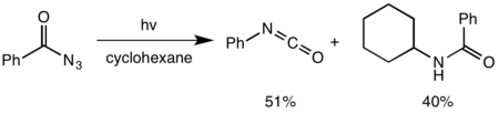 Insertion of nitrene formed by photochemical Curtius rearrangement