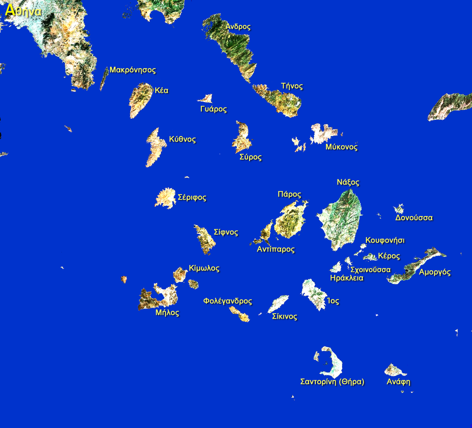 Cyclades-Satellite GREEK