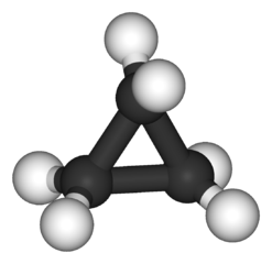 Cyclopropane.