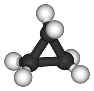 Cyclopropane - Image: Cyclopropane 3D balls