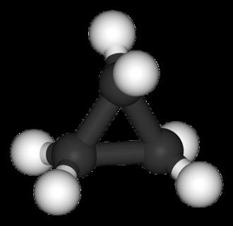 Cyclopropane - Image: Cyclopropane 3D balls