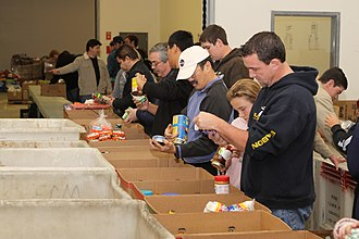 Cymer - Cymer volunteers at a civic event at the San Diego Food Bank