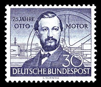 Nikolaus Otto - Image: DBP 1952 150 Otto