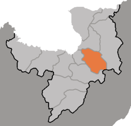 Location of Unhŭng County