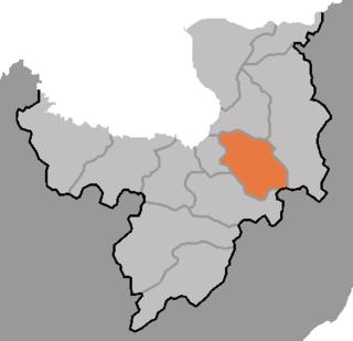 Unhung County County in Ryanggang, North Korea