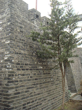 History of Shanghai - The ''Dàjìng Gé'' Pavilion wall, which is the only remaining part of the Old City of Shanghai wall.