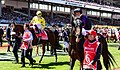 Damien Oliver with FIORENTE - 2013 Melbourne Cup (10705912665).jpg