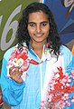 Damini Gowda in the Women's swimming 200m Butterfly category, at the 12th South Asian Games-2016, in Guwahati.jpg