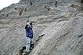 Dan Leavell & glacial outwash (Pleistocene; St. Louisville gravel pits, Licking County, Ohio, USA) 3 (45200732165).jpg