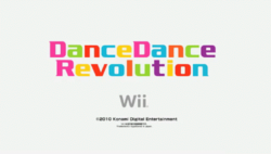 Dance Dance Revolution (Wii video game) title card.png