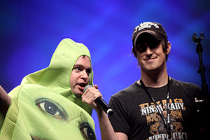 The Annoying Orange - Creator Dane Boedigheimer (right)