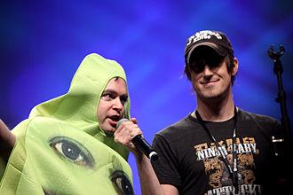 The Annoying Orange - Creator Dane Boedigheimer (right)