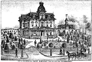 Daniel O'Neill (editor) - House built on Linden Street, Pittsburgh by Daniel O'Neill as it appeared circa 1876