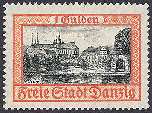 Postage stamps and postal history of Free City of Danzig - A 1938 stamp of Danzig