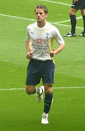 A colour photograph of David Bentley, during a league match against Arsenal and Tottenham Hotspur in 2009.