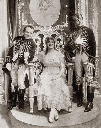 David C. Montgomery - Montgomery as Punks, Janis as Cinderella and Stone as Spooks in The Lady of the Slipper 1912