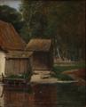 David Monies - Et lille husmandssted ved et vandløb.png