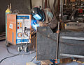 David Stromeyer welding up bending jig to create twists.jpg