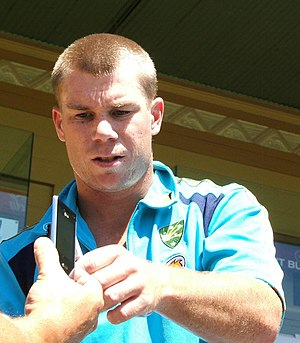 David Warner (cricketer) - Warner at a training session