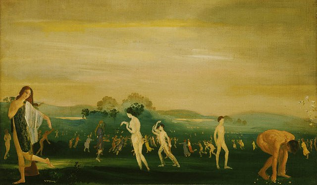 Davies-Elysian Fields, undated oil on canvas painting, The Phillips Collection (Washington, D. C.)