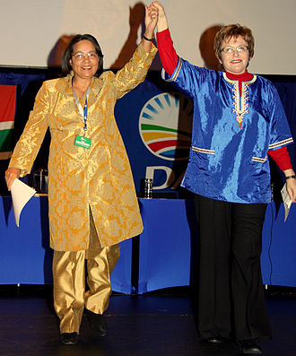 Helen Zille - Helen Zille and Patricia de Lille at the DA Federal Congress, 2010.