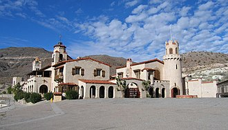 National Register of Historic Places listings in Inyo County, California - Image: Death Valley Scotty's Castle